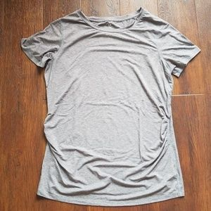Gap Fit gray maternity crew neck workout tee